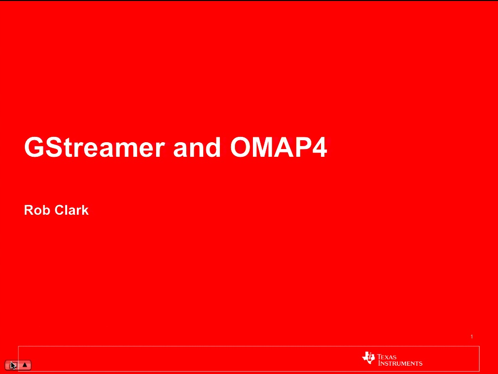 Gstreamer And Omap4 Conferences Block Diagram 00