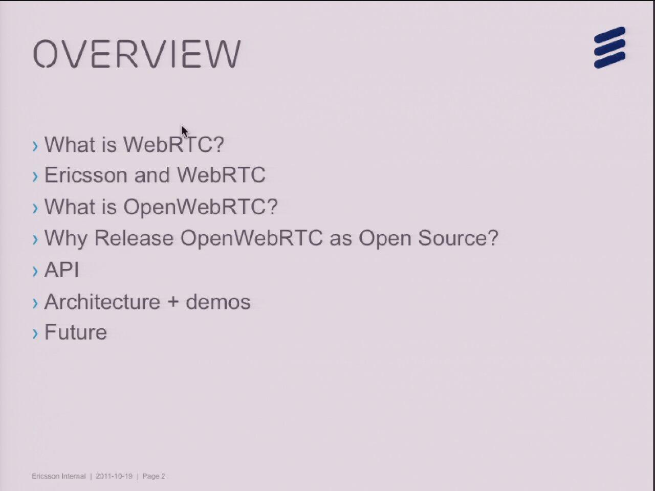 Cross-Platform WebRTC with gstreamer - GStreamer conferences