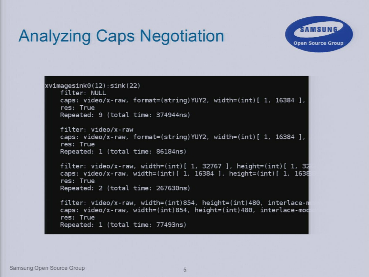 Analyzing Caps Negotiation (Using GstTracer) - GStreamer