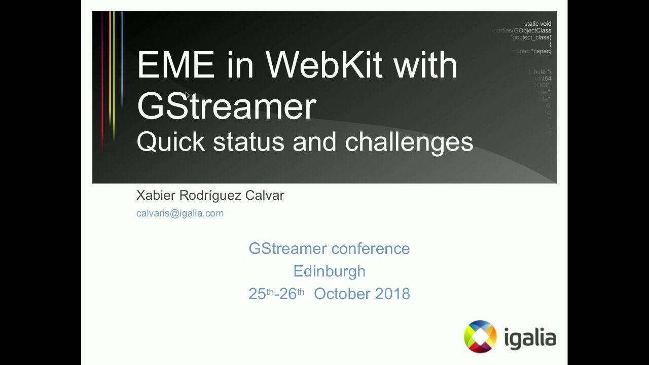 Lightning talks - GStreamer conferences