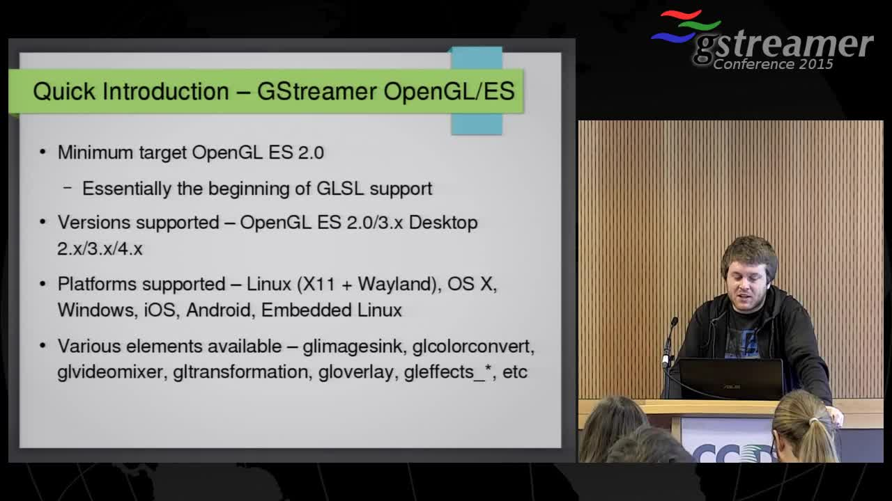 OpenGL for the gstreamer pipeline - GStreamer conferences