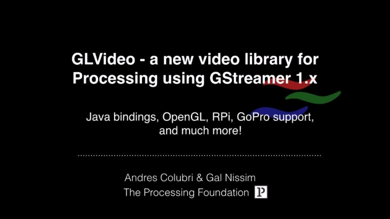 Processing : The new 1-0 Based video library for desktop and