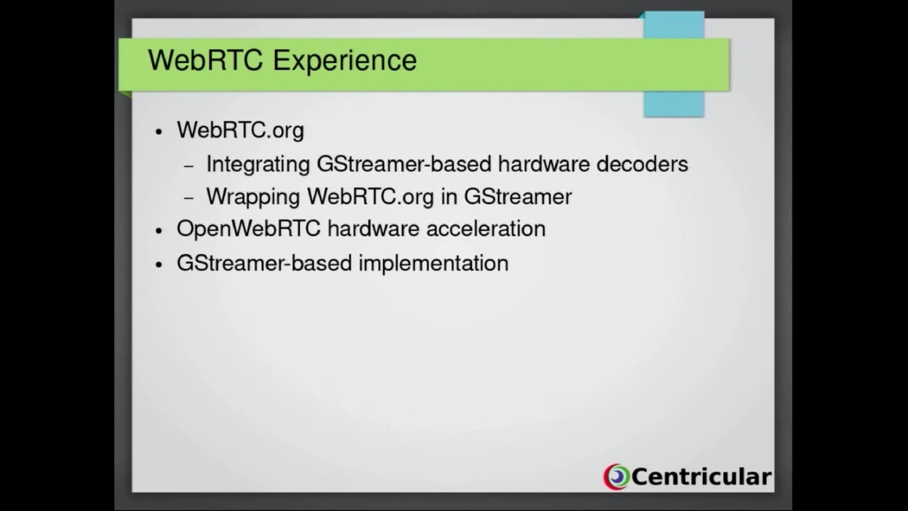 Gstreamer WebRTC - GStreamer conferences