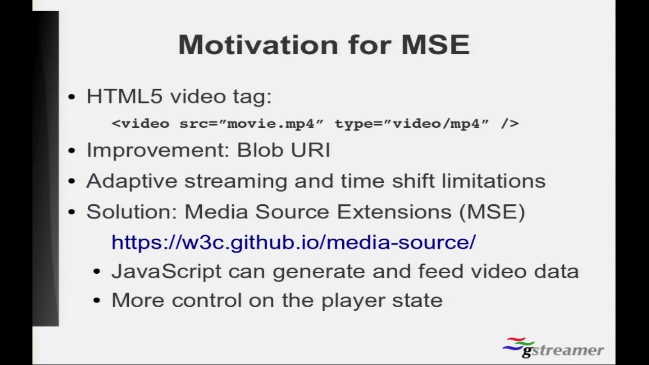 Media Source Extension on Webkit - GStreamer conferences